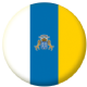 Canary Islands Flag 25mm Pin Button Badge.
